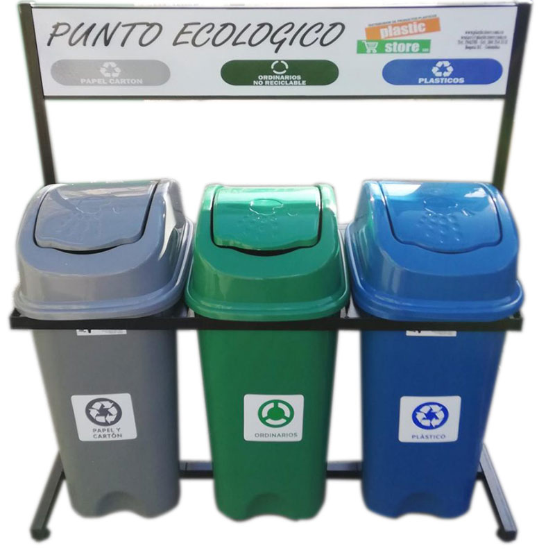 punto ecologico reciclable
